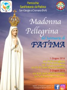2016 PEREGRINATIO MADONNA DI FATIMA